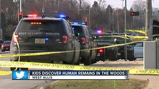 Kids discover human remains in the woods