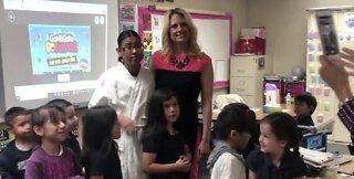 Gragson Elementary School teacher gets surprise