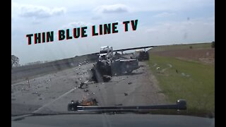 DASHCAM: Stolen Vehicle Pursuit Ends In HORRIFIC & DEADLY Head On Collision With Tractor Trailer