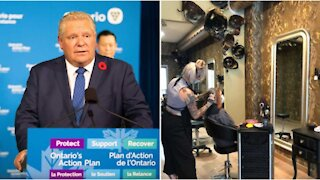 Ontario's New COVID-19 Restrictions Could Shut Down Hair Salons & Gyms By Next Week