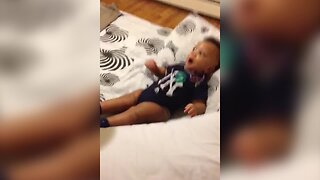Tiny Baby Already Wants to be Dancing