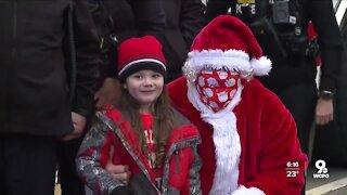 Addyston boy meets Santa Claus