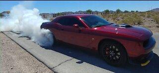 Challenger Scat Pack Shaker - 1st Burnout