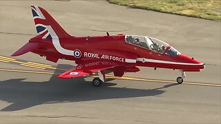 UK RAF's Red Arrows land at Rocky Mountain Metro Airport