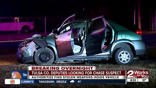 Tulsa County deputies looking for chase suspect