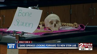 Sand Springs students looking forward to new wing, STEM lab