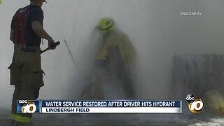 Driver strikes San Diego International Airport hydrant, shutting down water service