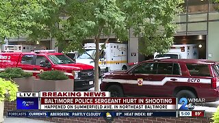 Baltimore Police sergeant hurt in shooting