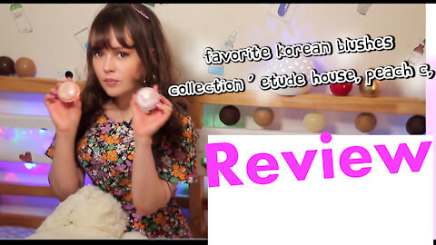 Favorite Korean blushes collection - etude house, peach c, the saem