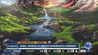 Mural unveiling at Kinsco's showroom in Longmont