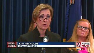Iowa governor gives coronavirus update
