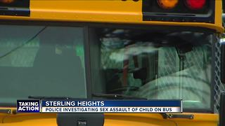 5-year-old allegedly sexually assaulted on school bus in Macomb County