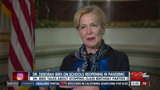 Dr. Deborah Birx on schools reopening during the COVID-19 pandemic