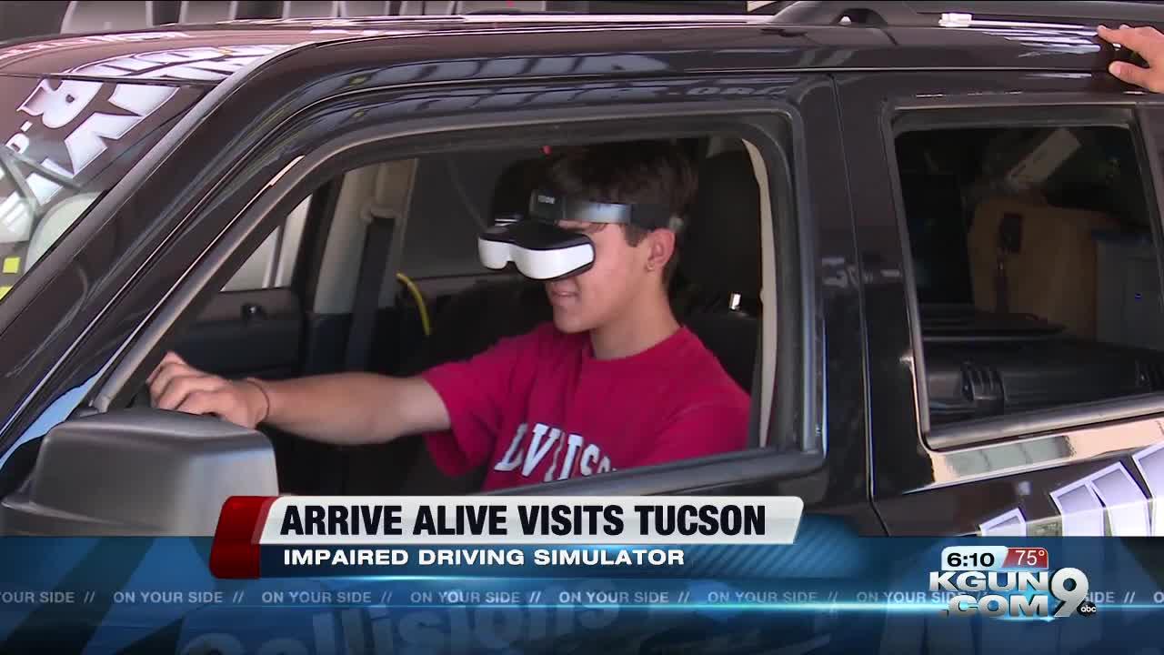 Arrive Alive truck visits Presidio School
