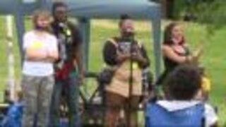 Black Lives Matter demonstration in Patterson Park
