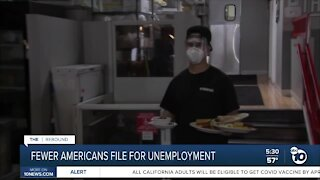 Fewer Americans filing for unemployment