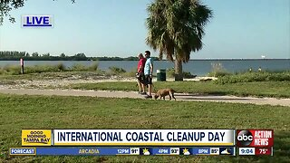 Volunteers cleaning community on International Coastal Cleanup Day