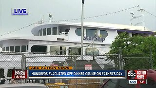 Father's Day cruise abruptly ends after fire erupts in the engine room