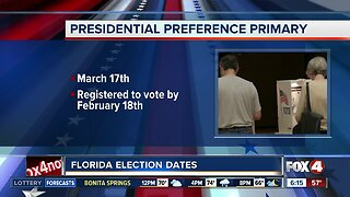 Florida's presidential primary set for March 17th