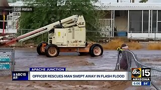 Valley man swept in floodwater: 'I thought I was gonna drown'