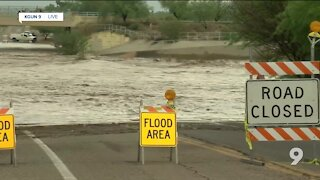 Live look at the Rillito River running