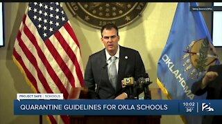 Quarantine guidelines for Oklahoma schools