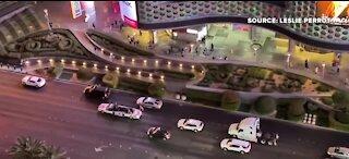 Celebrations on Las Vegas Strip after Biden projected winner