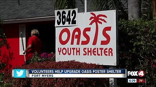 Volunteers give local foster care center a makeover