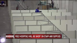 2 metro Detroit field hospitals will open with medical staff and PPE shortages