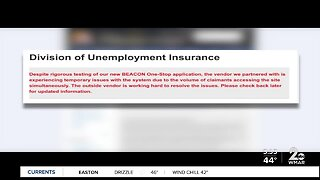 Unemployment online application problems
