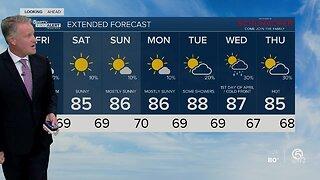 Latest Weather Forecast 5 p.m. Thursday