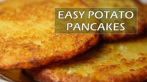 How to make simple potato pancakes