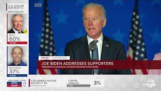 Joe Biden addresses supporters