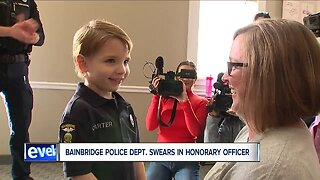 Bainbridge Township Police Department swears in its newest officer: 5-year-old Carter