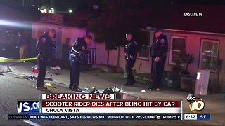 Scooter rider dies after being hit by car in Chula Vista