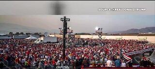 Trump campaigns in Nevada