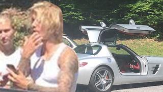 Justin Bieber & Hailey Baldwin TOO CUTE After Car Breaks DOWN!