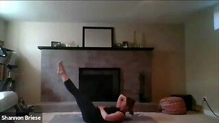 Pilates instructor teaching classes online
