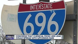 Concerns that chemical from I-696 leak could spread with upcoming rain