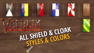 All Shield And Cloak Styles (Color/Pattern) - Valheim