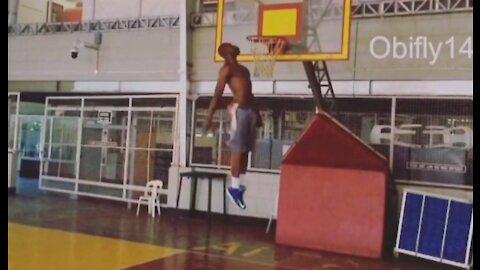 Obinna Ezeike Monster High flying basketball dunk