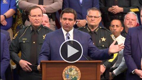 Governor Ron DeSantis Signs Hallmark Anti-Riot Legislation in Florida 4/19/2021