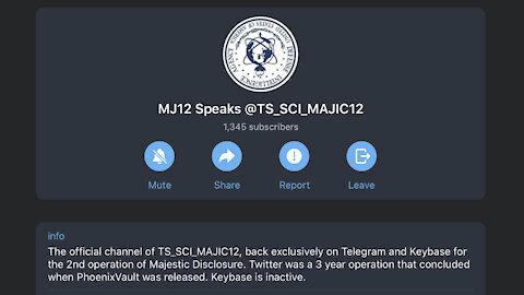 💬 Majestic 12 Telegram NEW account! 😍 2nd Operation of Majestic Disclosure 👽 new posts analysis 💥