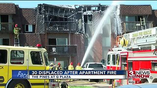 Authorities respond to fire at apartment complex