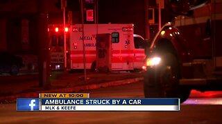 Milwaukee Fire Department ambulance struck by vehicle, minor injuries