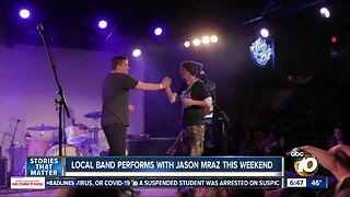 Local band performs with Jason Mraz