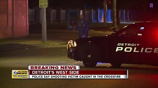 Family caught in crossfire on Detroit's west side