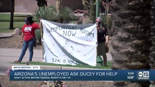 Arizona's unemployed protesting for action