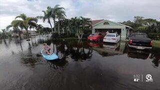 Lantana neighborhood flooded after week of rainfall