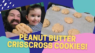 Peanut Butter Criss Cross Cookies